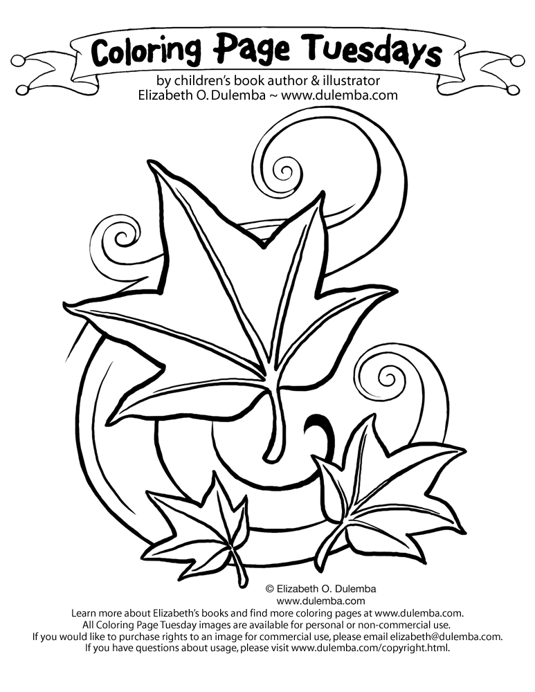 Free Coloring Pages Of Leaves Wind