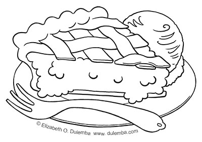 pie coloring page # 12