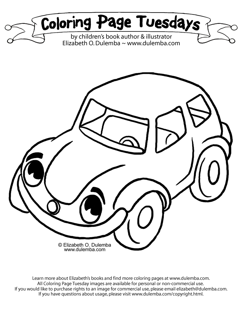 Dulemba Coloring Page Tuesday Car