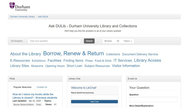 The Ask DULib web page!