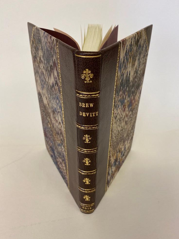 A handmade modern bookbinding