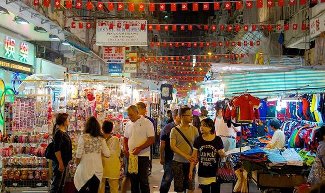Chợ đêm phố Chùa Hồng Kông