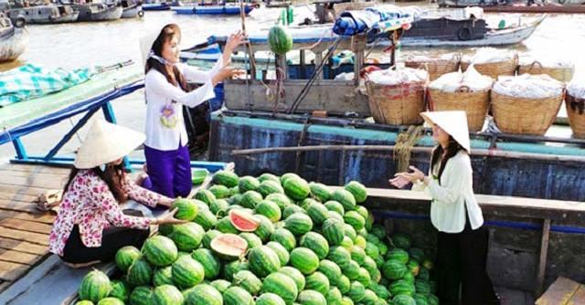 Chợ nổi Long Xuyên - Một vòng tham quan các chợ nổi miền Tây