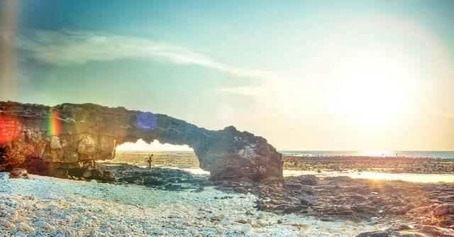 Bình mình lãng mạn trên đảo Lý Sơn