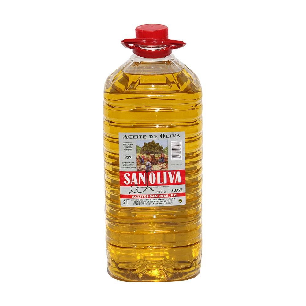 Aceite Oliva Suave Sanoliva 5Lt.