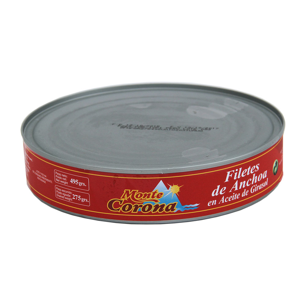 Filetes de Anchoa en Aceite Vegetal 495Gr