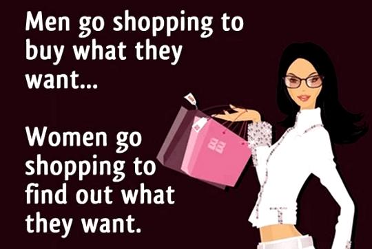 women go shopping