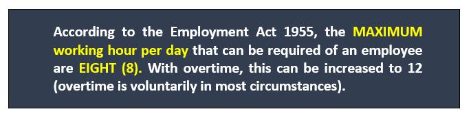 Maximum Working Hours
