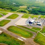 Taxiway A prior to taxiway relocation and runway reconstruction in the summer of 2019