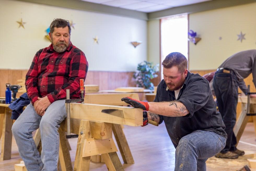 Timber Framed Sawhorse at the Duluth Folk School