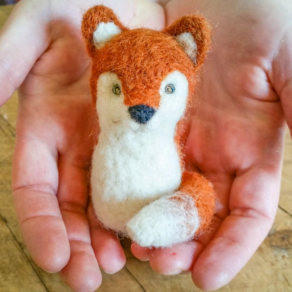 Needle Felted Fox at the Duluth Folk School