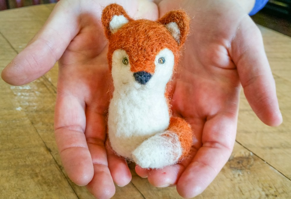 Needle Felted Fox at the Duluth Folk School