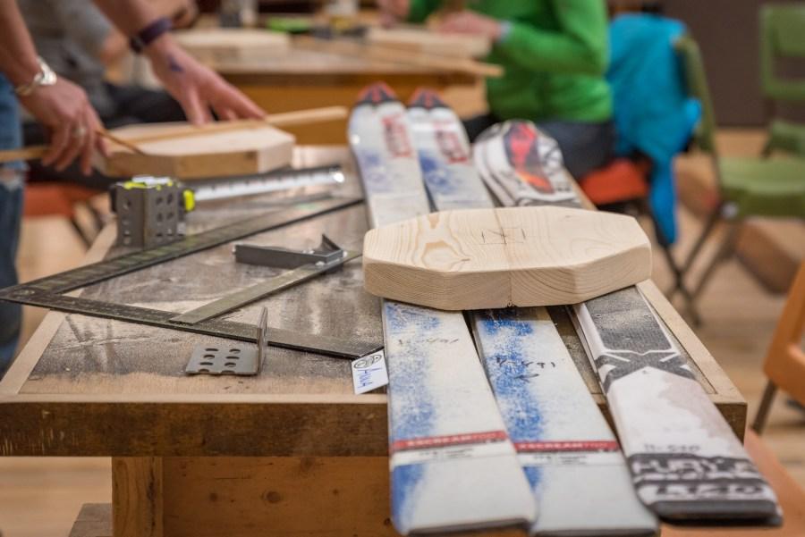 Ski Rack Coat Rack at the Duluth Folk School