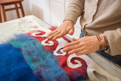 The process of felting