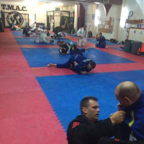Gym during BJJ