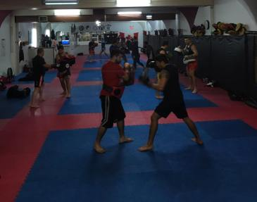 Gym during Muay Thai