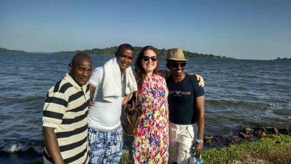 Unreasonable East Africa 2015 Fellows at Lake Victoria during the startup accelerator program.