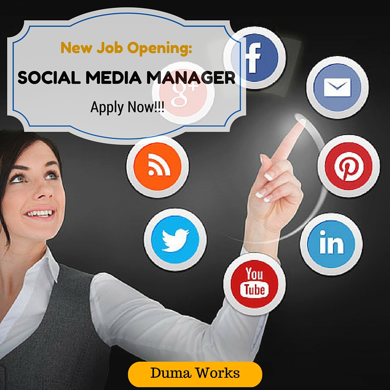job opening social media manager in nairobi duma works. Black Bedroom Furniture Sets. Home Design Ideas