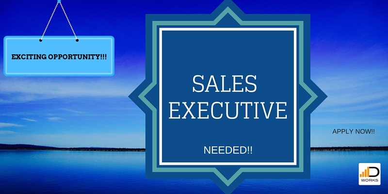 Job Vacancy - Sales Executive - Duma Works Blog
