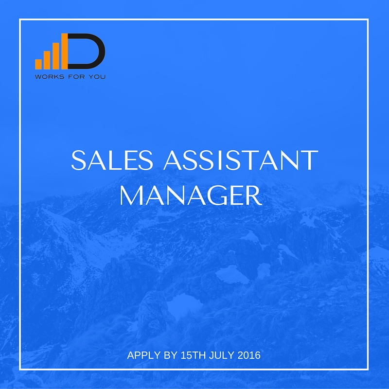 Sales assistant manager
