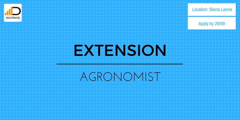 Apply for an Extension agronomist in Sierra Leone