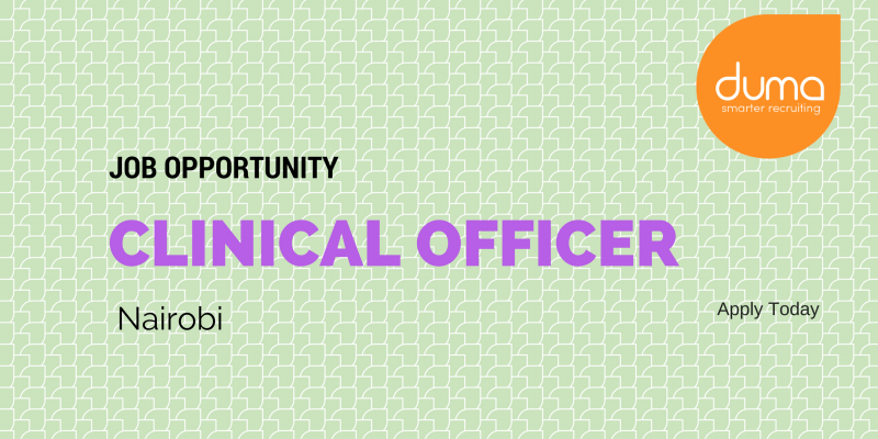 Clinical Officer Job opening