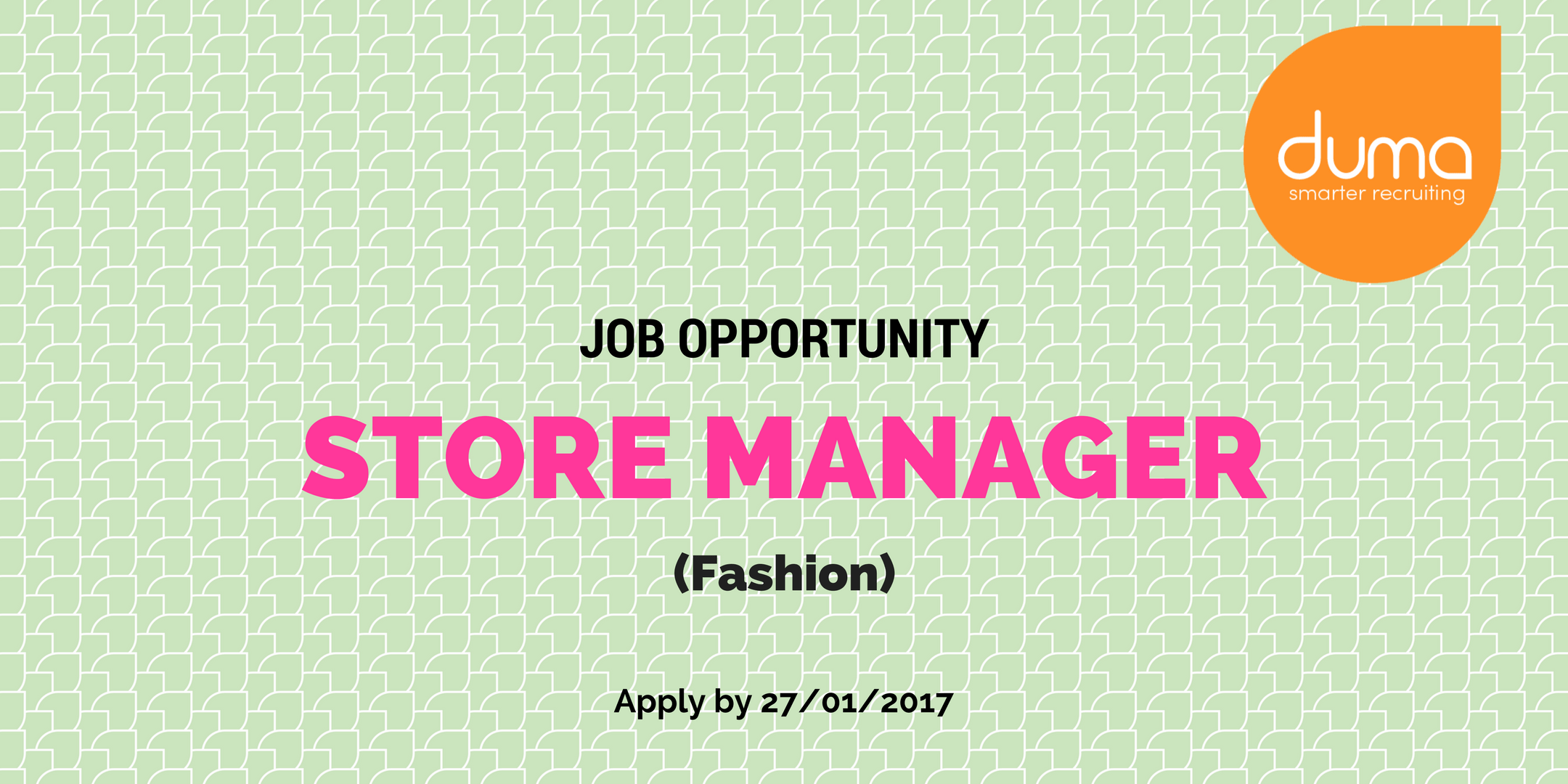 job vacancy store manager fashion in nairobi