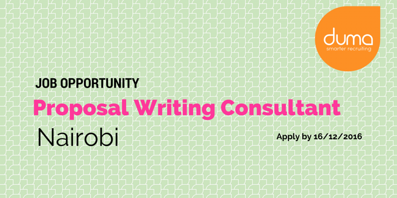 Proposal Writing Consultant job application.