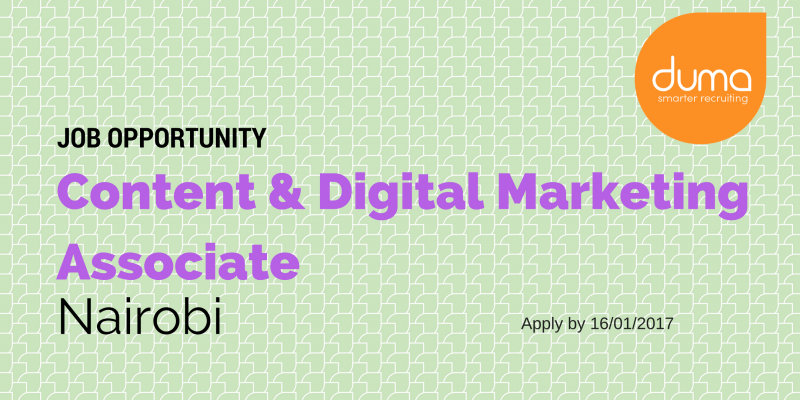 Apply for the Content and Digital Marketing Associate job