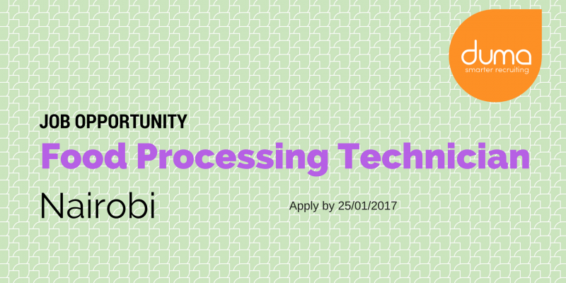 Applt for the Food Processing Technician