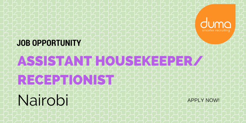Assistant housekeeper/receptionist job application