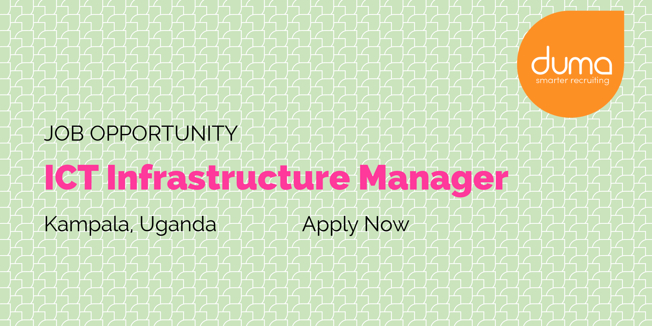 Job Vacancy U2013 ICT Infrastructure Manager