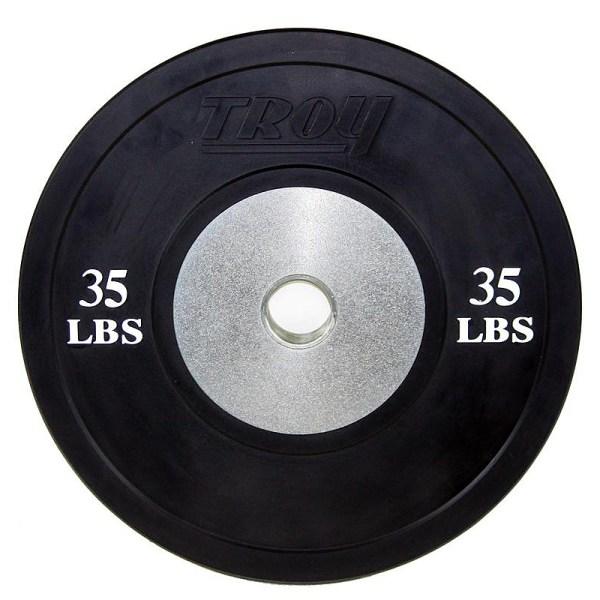 Troy Bco-sbp Competition Bumper Plate Set Black - 960lb
