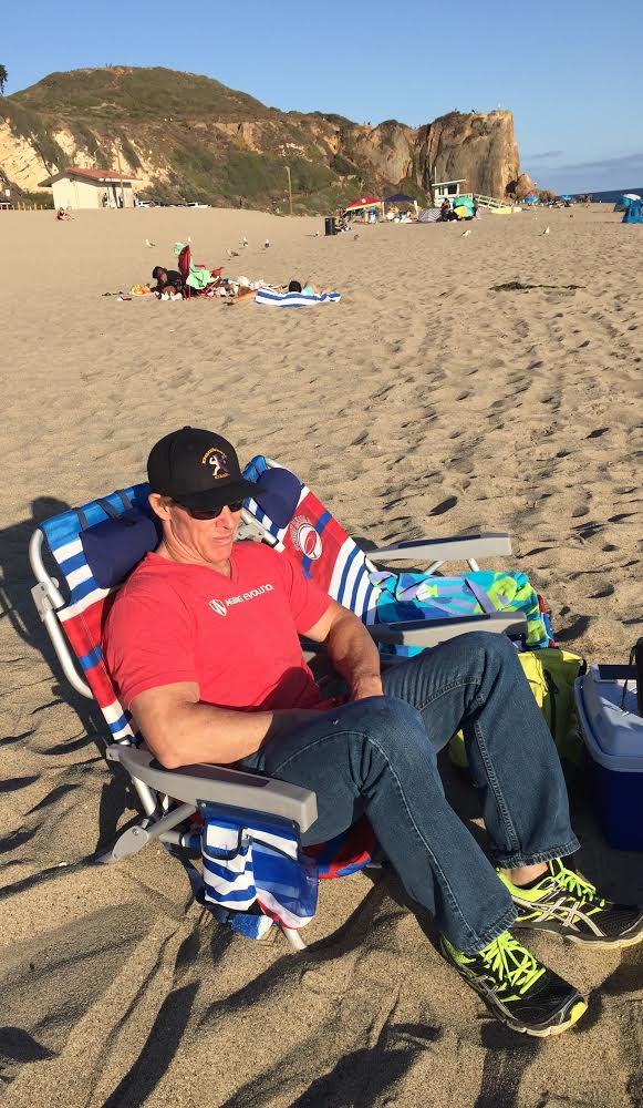 D.Johnson at the Beach