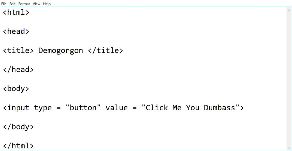 using input type as button in html