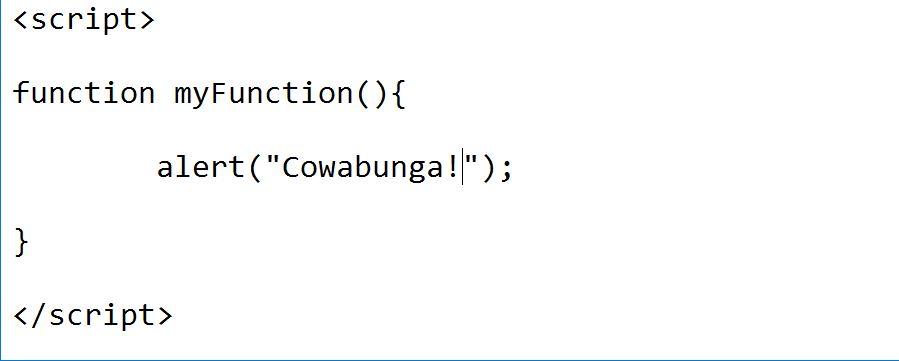 image of alert box function code JS