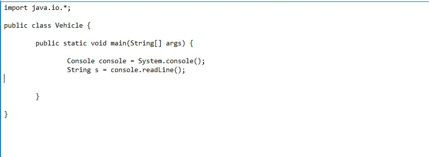 using readLine() method in console