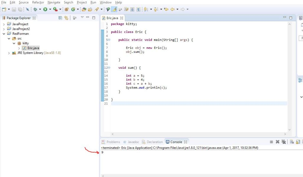 result of how to write a java program to add two numbers