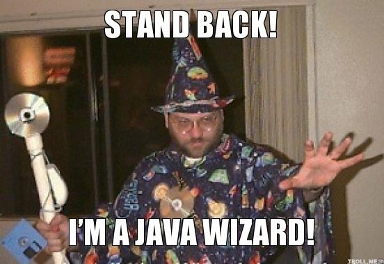 java wizard meme