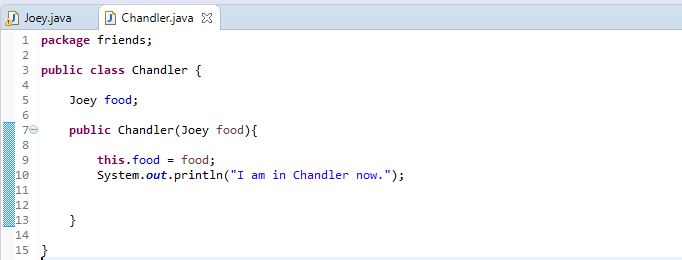 an example of Chandler class with objects