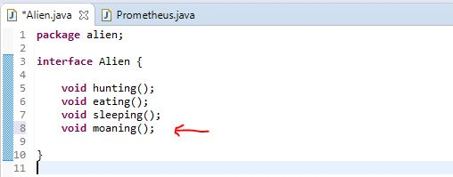 using a fourth method in interface