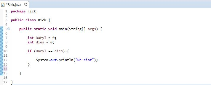 if example case in java