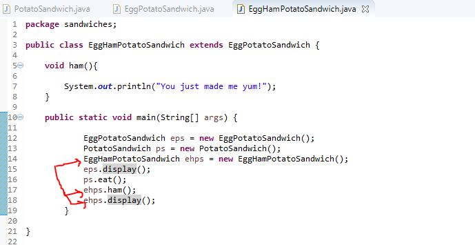 code to depict multi-level inheritance