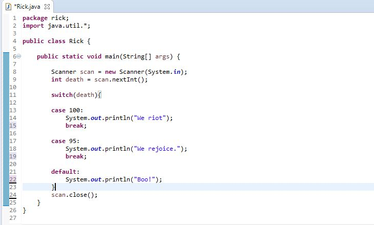 example of switch case in java