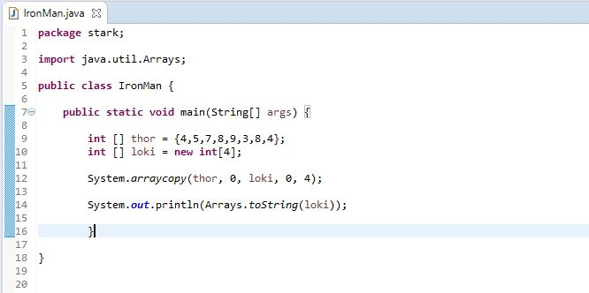 Arrays toString method to display an array in Java