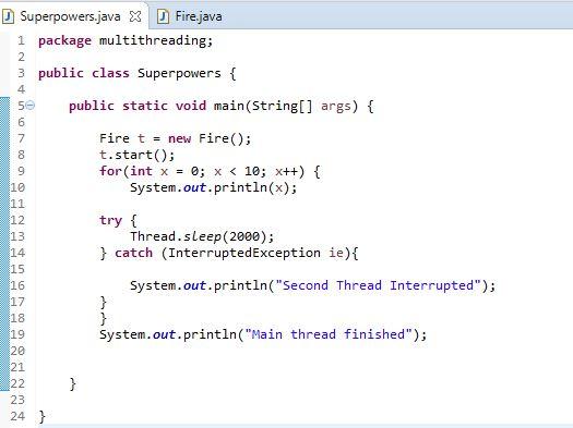extending Thread Main method in Java