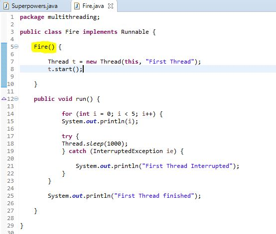 Extending Thread using a constructor in java