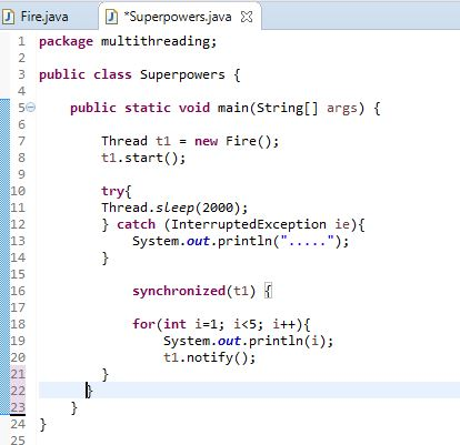 notify example in java thread in main class