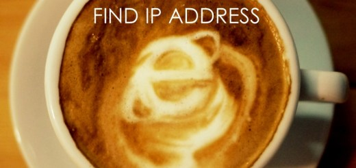 coffee and internet find IP address