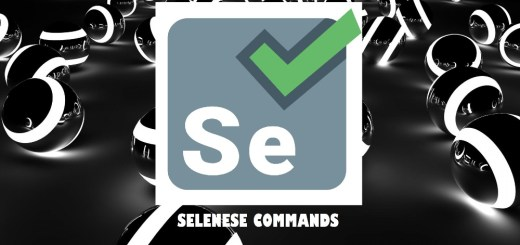 selenese commands selenium IDE commands